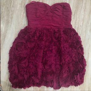 Bebe Strapless Rose Dress - XS